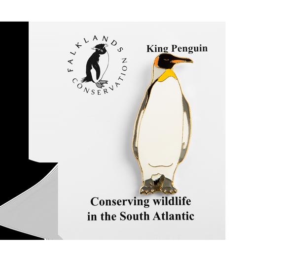 king-penguin-pin-badge